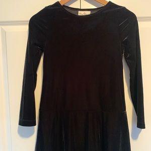 Rare Editions Girls Black Velvet Dress